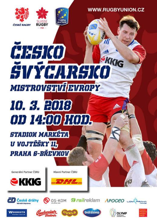 Ragby Česko vs. Švýcarsko