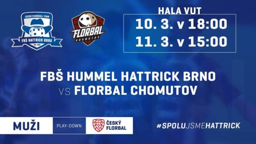 Play down: FBŠ Hummel Hattrick Brno - Florbal Chomutov
