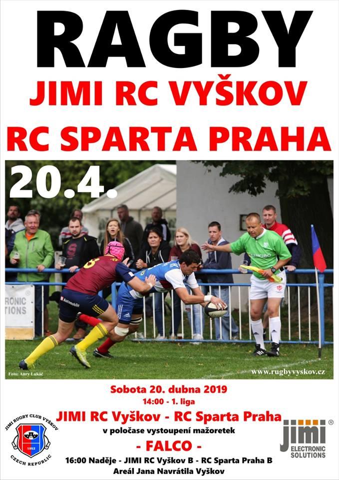 1.liga ragby 2019 - 4.kolo - JIMI RC Vyškov vs. RC Sparta Praha #czechrugby