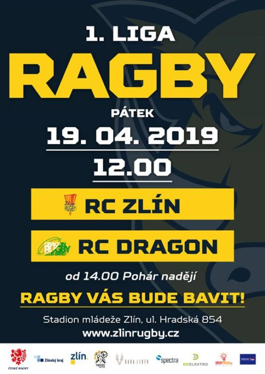 1.liga ragby 2019 - 4.kolo - RC Zlín vs. RC Dragon Brno #czechrugby